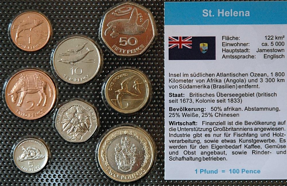 St Helena 1 Penny 2 Pfund 8 Münzen Wkms Deutsch Muenzwelttv