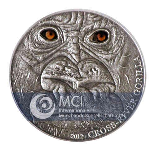 1000 Francs CFA Kamerun 2012 Cross-River-Gorilla, Silber AF Neu