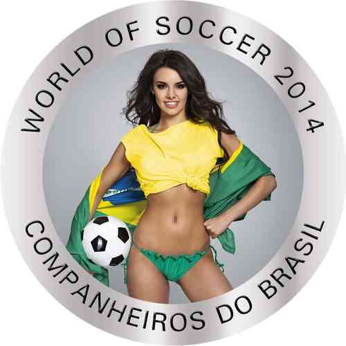 50 x 5 Cruzados coloriert: Brasilien 2014 - World of Soccer Champions Edition