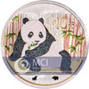 10 Yuan China 2015 Panda 1 Unze Silber Bull & Bear Diamond Line