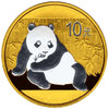 10 Yuan China 2015 Panda Gold-Platinline