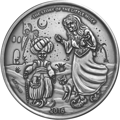 "1,000 Francs CFA Burkina Faso 2016 ""The Little Muck - The old Lady"", 1 ounce fine silver"