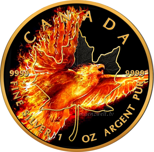 "5 CA-Dollar Kanada 2016 ""Maple Leaf - Burning Eagle"""