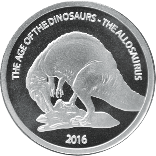 500 Francs Burkina Faso 2016 The age of the dinosaurs - Allosaurus