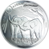 1.000 Francs CFA Burkina Faso 2016 Spirit of Africa® IV - Elefant - 1 oz Silber 0.999