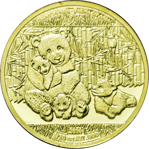 "1.500 Frcs Burkina Faso 2016 "" Giant Panda - World Stars Gold Investment"", 1/10 Unze Feingold"