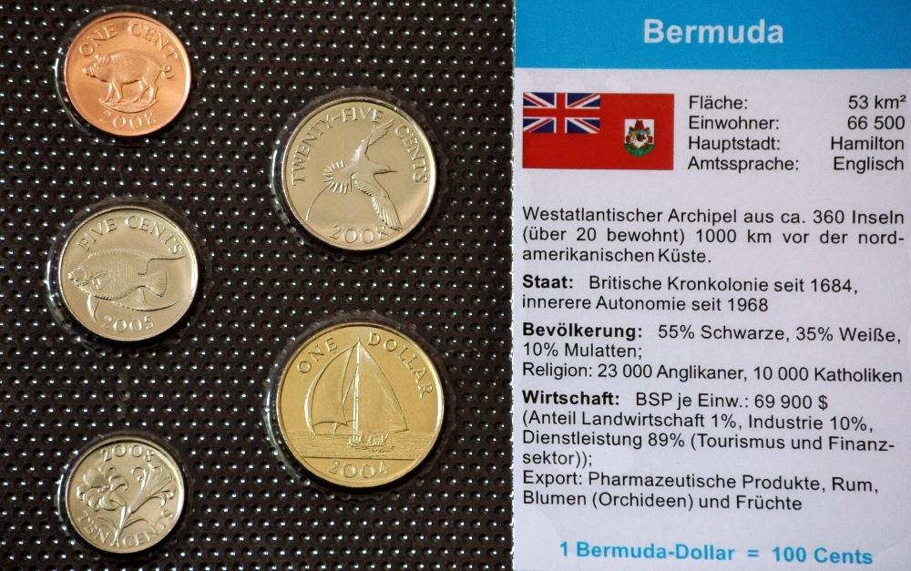 Bermuda 1 Cent 1 Dollar 5 Münzen Wkms Deutsch Muenzwelttv