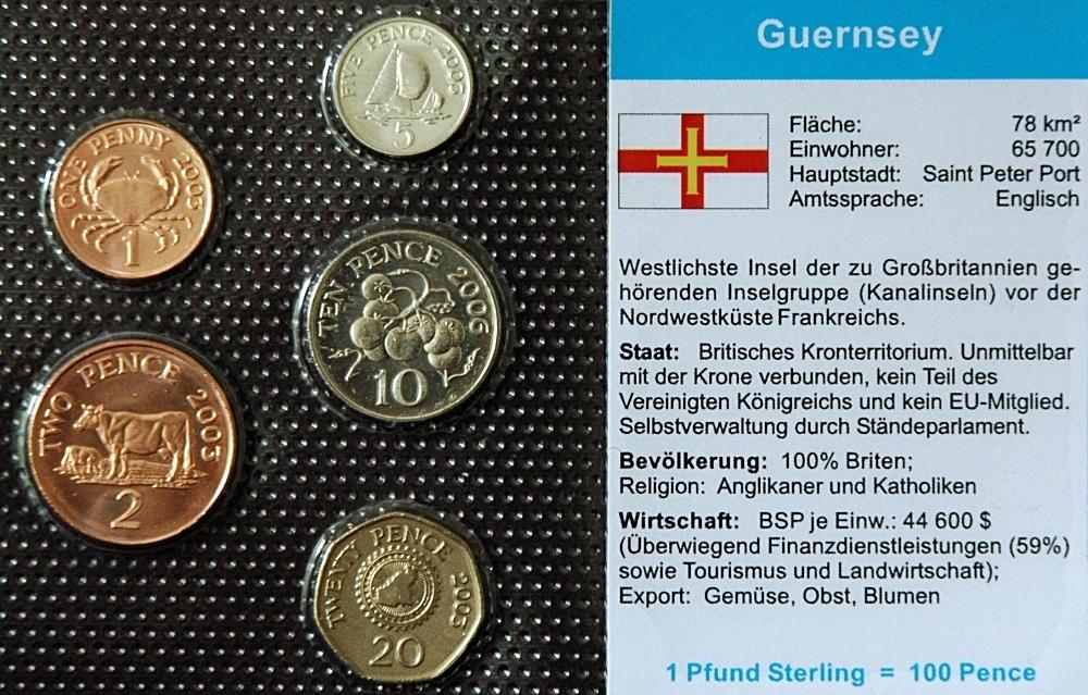 Guernsey 1 Penny 20 Pence 5 Münzen Wkms Deutsch Münzwelttv