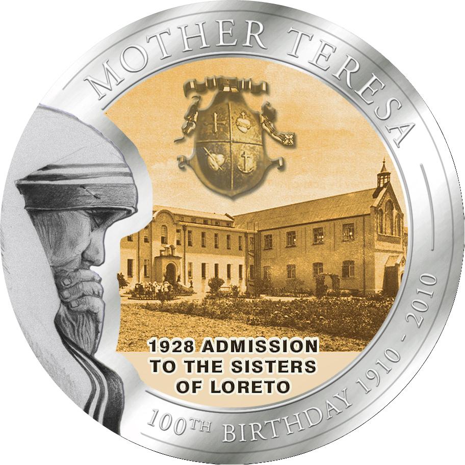 1 Dollar Palau 2010 Mutter Teresa Schwestern Von Loreto Münze Box