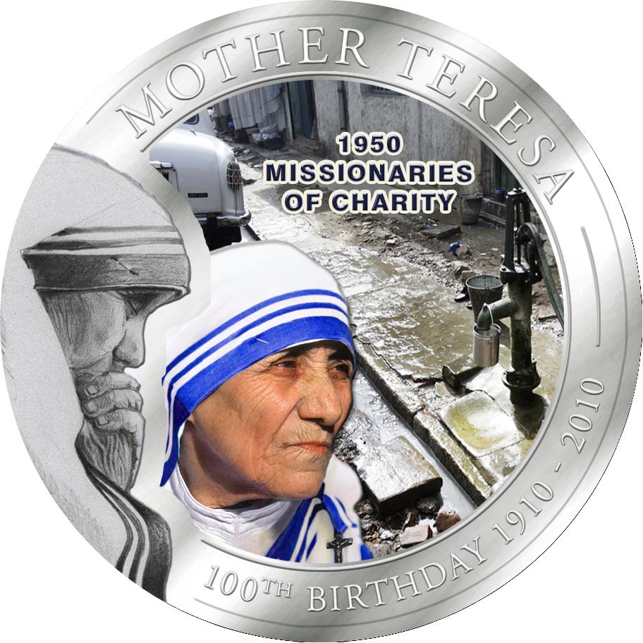 1 Dollar Palau 2010 Mutter Teresa Nächstenliebemünze Münzwelttv