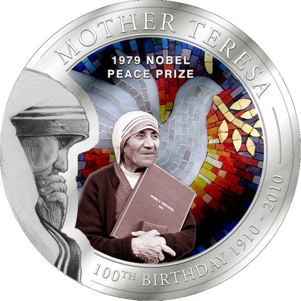 1 Dollar Palau 2010 Mutter Teresa Friedensnobelpreis Münze Coa