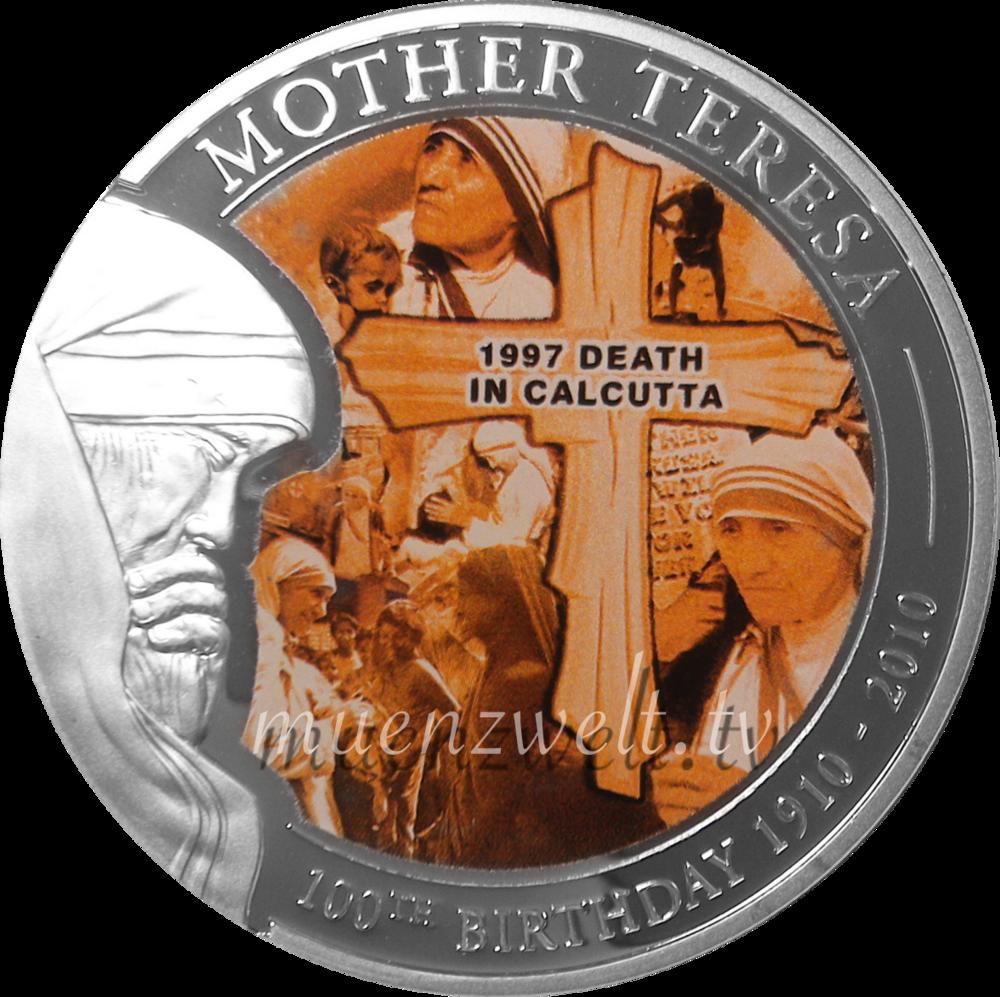 1 Dollar Palau 2010 Mutter Teresa Tod In Kalkuttamünze Münzwelt