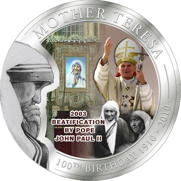 1 Dollar Palau 2010 Mutter Teresa Seligsprechung Münze Münzwelt