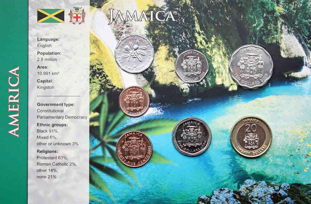 Jamaika 1 Cents20 Dollars 7 Münzen Wkms Englisch Münzwelttv