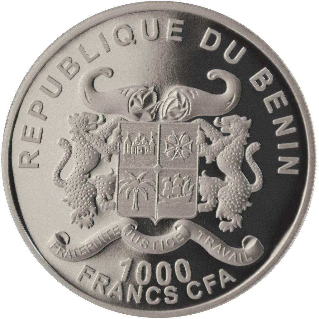 1 000 Francs Cfa Benin 2015 Silverline Elephant 1 Ounce