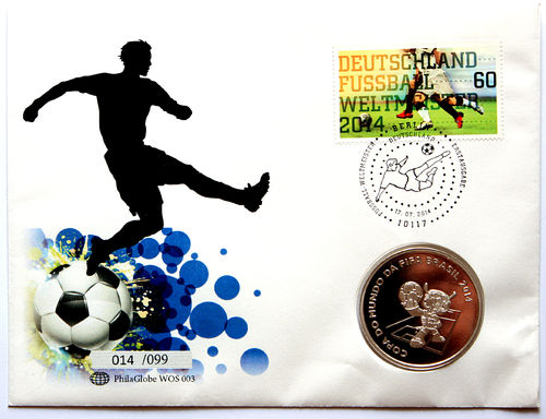 PhilaGlobe WOS 003 Numisletter Soccer in Brazil Germany 17.07.2014