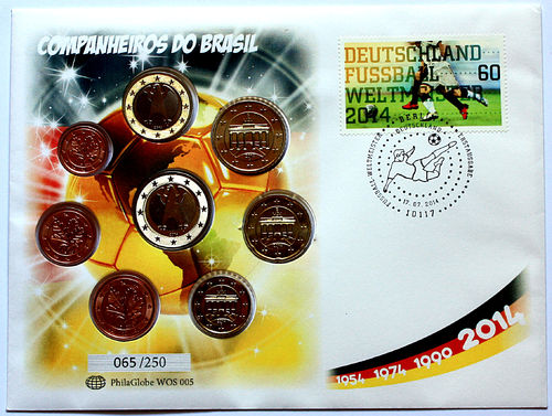 PhilaGlobe WOS 005 Numisletter Soccer Champion Germany 17.07.2014