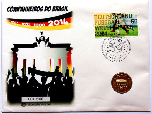 PhilaGlobe WOS 007 Numisletter Soccer Champion Germany 17.07.2014