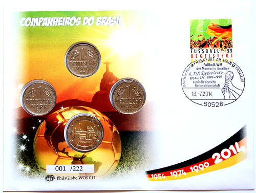PhilaGlobe WOS 011 Numisletter Soccer Champion Germany 13.07.2014