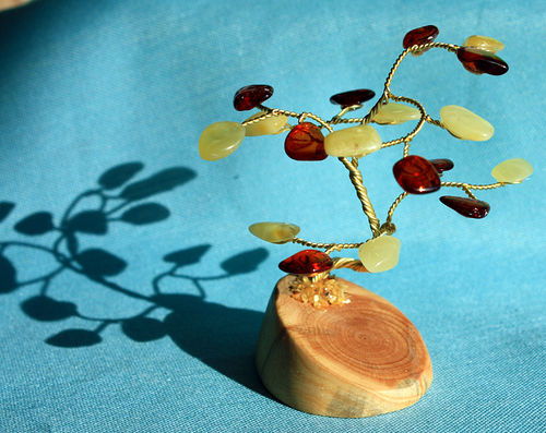 Little Amber Tree - app. 6.5 cm high - handmade