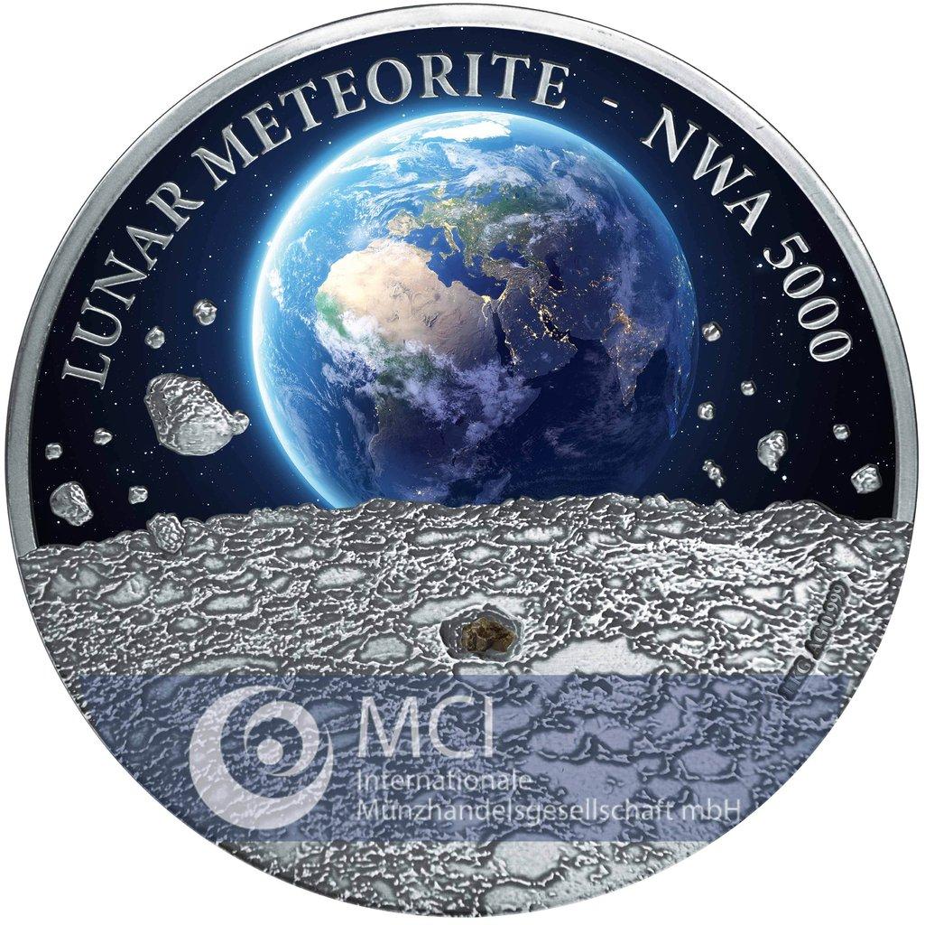50 Nz Dollar Niue Island 2015 Lunar Meteorit Nwa 5000 1