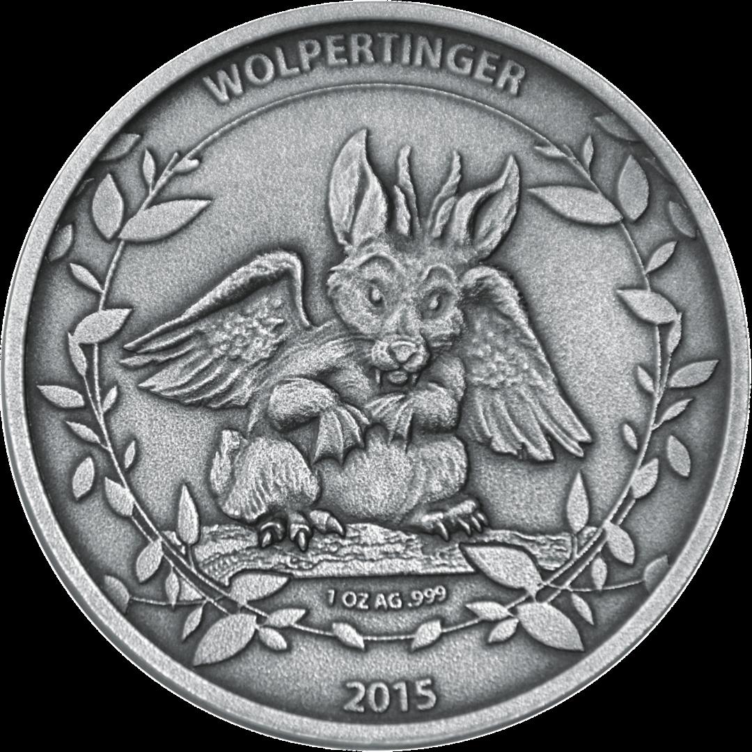 Wolpertinger Prestige Set 2015 2 X 1 Ounce Fine Silver 0