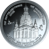 "The Central German ounce 2016 - ""Dresden Frauenkirche"" - Bullion: 1 ounce fine silver 0.999"