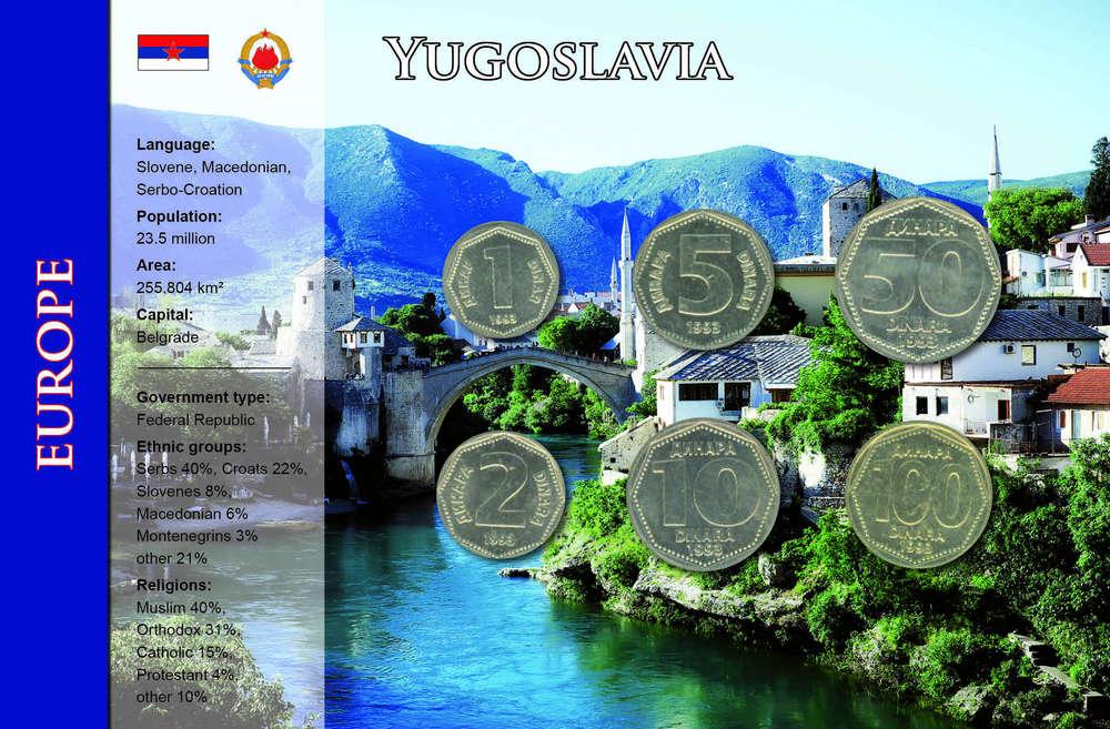 Jugoslawien 1 100 Dinar 6 Münzen Wkms Englisch