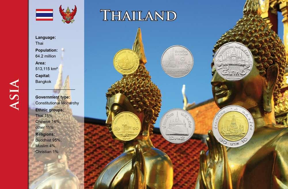 Thailand 25 Satang 10 Baht 6 Münzen Wkms Englisch