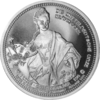 "The Central German ounce - ""Countess Cosel"" - Bullion: 1 ounce fine silver 0.999"