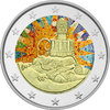 2 Euro Spain 2014 '' Works by Antoni Gaudí '' - colored
