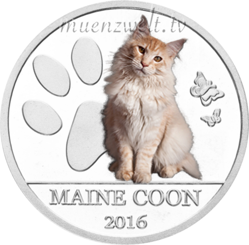 "500 Francs Burkina Faso 2016 ""Maine Coon Cat"""
