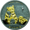 1.000 Frcs CFA Burkina Faso 2016 Bull and Bear Blackline Giant Panda 1 oz AG  0.999