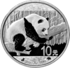 10 Yuan China 2016 Panda Bull and Bear Black & White 30g Silber 0.999