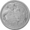 "The Central German ounce 2017 - ""Friedrich II"" - Bullion: 1 oz fine silver 0.999"
