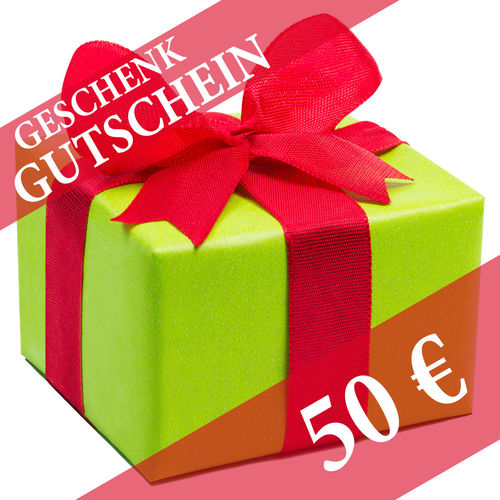 Gift voucher worth 50 Euro!
