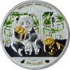 1.000 Frcs CFA Burkina Faso 2016  Bull and Bear Blueline Giant Panda 1 oz AG  0.999