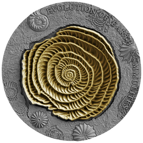 "2 Dollar Niue Island 2017 ""Evolution of Earth - Nummulites"" 2 ounces fine silver"