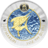 1 KY-Dollar Cayman Islands 2017 Marlin Bull&Bear BlueLine 1oz Silber 0.999
