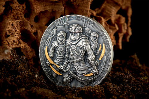 5 $ Niue Island Nizaris - Assassine 2019, 2 oz Feinsilber 0.999 antik finish
